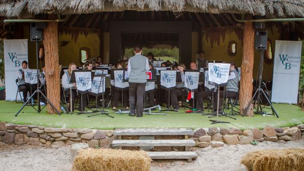 Werribee Concert Band performing at the Werribee Open Range Zoo