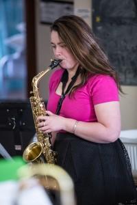 Corrina doing a bit of practice at camp 2014