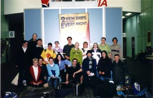 WCB preparing for their trip to Hobart in 2002