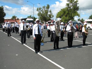 Werribee Concert Band getting ready to fire up the Weerama procession
